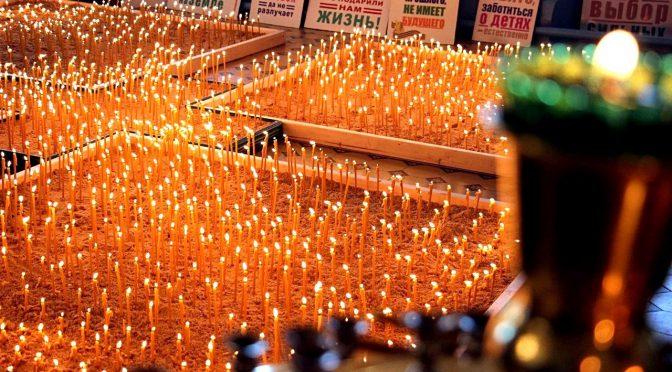 В Российской глубинке зажгли 2300 свечей в память о нерожденных детях