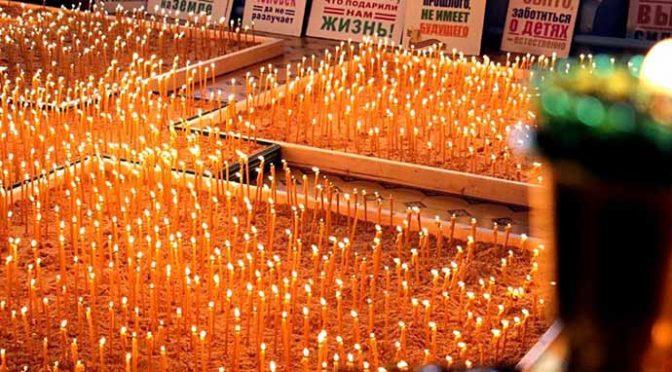 В Нижегородской области зажгли 2300 свечей в память о нерожденных детях